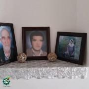 مرحوم اصغر زینی میاب و مرحومه خانم مریم احمدی میاب والدین شهید عزیز غلام زینی میاب هر سه در یک تصویر