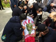 مراسم تشییع پیکر مطهر جانباز شهید حاج داود فیاضی